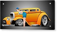Tweaking The Orange Acrylic Print by Lyle Brown