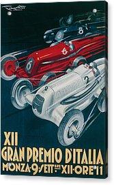 Twelfth Italian Grand Prix At Monza Acrylic Print by Plinio Codognato