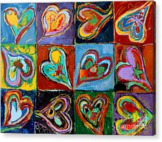 Twelve Dancing Hearts Acrylic Print by Kelly Athena
