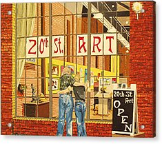 Twentieth Street Gallery Lavender Heights Version Acrylic Print by Paul Guyer