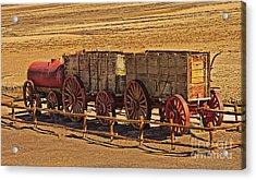 Twenty-mule Team In Sepia Acrylic Print by Robert Bales