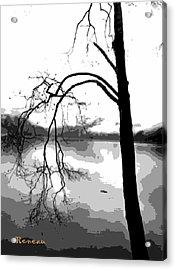 Twiggy Abstract Acrylic Print