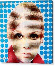 Twiggy Blue Dot  Acrylic Print by Grant  Swinney