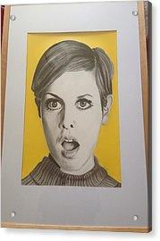 Twiggy Acrylic Print by Martin Burton