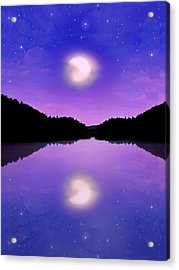 Twilight And The Moon Acrylic Print