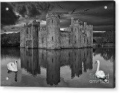 Twilight At Bodiam Castle Acrylic Print