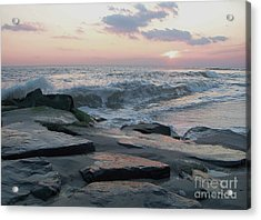 Twilight At Cape May In October Acrylic Print