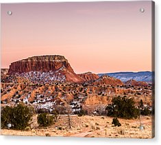 Twilight At Ghost Ranch In New Mexico Acrylic Print by Ellie Teramoto