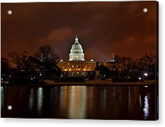 Twilight At The Capitol Acrylic Print