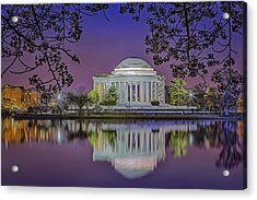 Twilight At The Thomas Jefferson Memorial  Acrylic Print by Susan Candelario