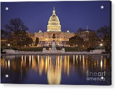 Twilight At Us Capitol Acrylic Print