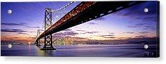 Twilight, Bay Bridge, San Francisco Acrylic Print by Panoramic Images