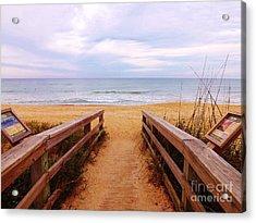 Twilight Beach Walk Acrylic Print by Brigitte Emme
