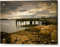 Twilight Cape Porpoise Maine Acrylic Print by Bob Orsillo