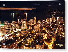 Acrylic Print featuring the photograph Twilight English Bay Vancouver Mdlxvii by Amyn Nasser