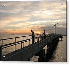 Twilight Fishing Acrylic Print