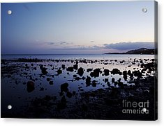 Twilight Glow Over Ocean Acrylic Print