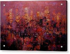 Twilight In L A Acrylic Print by R W Goetting