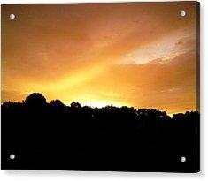 Acrylic Print featuring the photograph Twilight In Orange by Carlee Ojeda