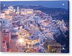 Twilight In Santorini Acrylic Print