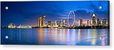 Twilight In Singapore Acrylic Print