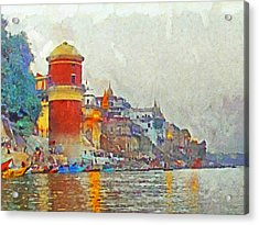 Twilight In Varanasi Acrylic Print