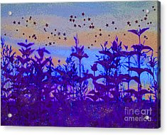 Twilight Meadow Magic Acrylic Print by First Star Art