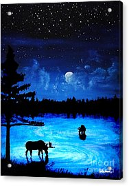 Twilight Moose Acrylic Print by Tylir Wisdom