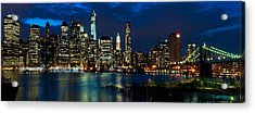 Twilight Nyc Panorama Acrylic Print