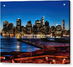 Acrylic Print featuring the photograph Twilight Of Honor by Linda Karlin