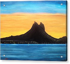Twilight On San Carlos Sonora Acrylic Print by Jorge Cristopulos