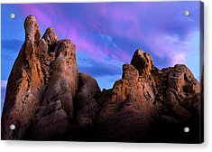 Twilight On White Dome Acrylic Print