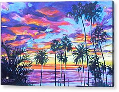 Twilight Palms Acrylic Print