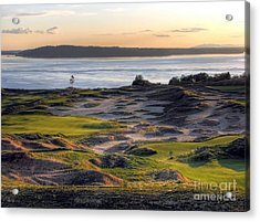 Acrylic Print featuring the photograph Twilight Paradise - Chambers Bay Golf Course by Chris Anderson