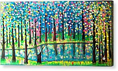 Twilight Pond Acrylic Print