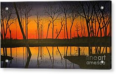 Twilight Reflections Acrylic Print by Lee Alexander