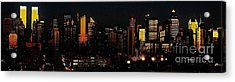 Acrylic Print featuring the photograph Twilight Reflections On New York City by Lilliana Mendez