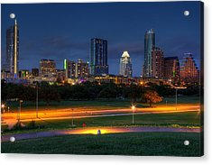 Acrylic Print featuring the photograph Twilight Skyline by Dave Files