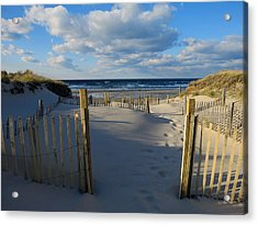 Acrylic Print featuring the photograph Golden Hour Beach by Dianne Cowen