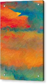 Acrylic Print featuring the painting Twilight Whispers by The Art of Marsha Charlebois