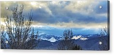 Twilight's Sky Acrylic Print by Nancy Marie Ricketts