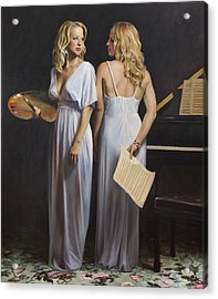 Twin Arts Acrylic Print by Anna Rose Bain
