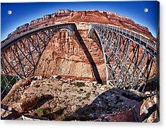 Twin Bridges Acrylic Print by Juan Carlos Diaz Parra