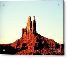 Twin Desert Peaks Usa Acrylic Print by John Potts
