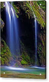 Twin Falls Acrylic Print by James Roemmling