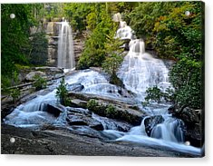 Twin Falls South Carolina Acrylic Print by Frozen in Time Fine Art Photography