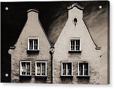 Twin Houses Acrylic Print by Arkady Kunysz