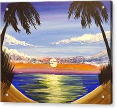 Twin Palms Acrylic Print by Darren Robinson