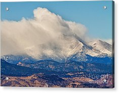 Twin Peaks Winter Weather View  Acrylic Print by James BO  Insogna