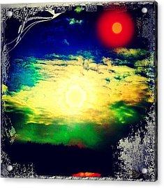 Twin Suns Setting Acrylic Print